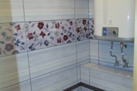 отремонтированная сантехника в бане